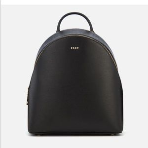 Black DKNY backpack made from genuine leather